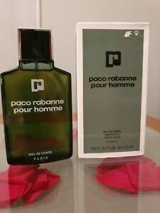 VINTAGE PACO RABANNE POUR HOMME EAU DE TOILETTE 100 ml SPRAY. OLD FORMULA.