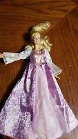1999 Mattel Disney Princess Barbie Doll in Light Purple Dress  Gold Trim Roses
