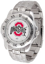 Ohio State Buckeyes Licensed Men Sport Steel Band Watch
