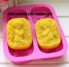 Angel Girl and Boy Silicon Rubber Soap Chocolate Jelly Mold Molder