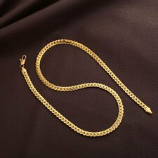 Shiny 18K Yellow Gold Filled mens hip hop Chain long 20'' Necklace 6mm