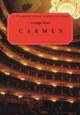 Georges Bizet Carmen Opera Vocal Score & Piano Sheet Music G Schirmer Book