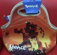 SPENCIL Cooler Lunch Bag Washable School Office Picnic-neoprene 30x28 Panda Love