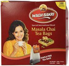 Wagh Bakri WAGHBAKRI Masala Chai 100 Tea Bags 200gm BEST USA SELLER