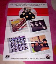 BEATLES POSTER. 1st 4 CD's. 1987 large promo, folded, unused. EX.