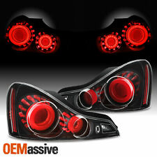 [GTR Style]Fit 2008-2015 G37 / Q60 Coupe 3D LED Tube Tail Light - Black Assembly