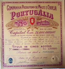 LISBOA 1966 ****CERVEJA  PORTUGALIA AZIONE ORIGINALE  * AUTENTICA GARANTITA