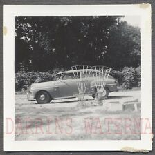 Vintage Car Photo 1950 Plymouth Concord w/ Rare Grape Arbor Option 734004