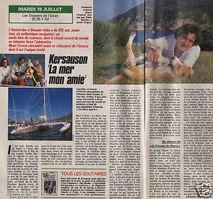 Coupure de presse Clipping 1989 Olivier de Kersauson  (1 page 1/2)