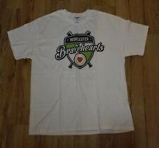 Worcester Bravehearts Minor league baseball  T-Shirt men's size-XL New autograph