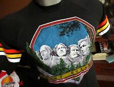 SMALL True Vtg 80s MT RUSHMORE SOUTH DAKOTA 3d EMBELM TYPE GRAPHIC T-shirt USA