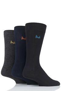 Mens Pringle 3 Pack Super Soft Bamboo Socks Rupert Black/Navy/Grey L6000