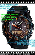 CASIO PROTREK PRG-550 LENS PROTECTION X 6 OK PRW5100 PRG550BD PRG550B PRG550G