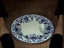 "20"" x 16"" Serving Meat Platter Tree & drip well Wedgwood & Co Indiana Imari Blue"