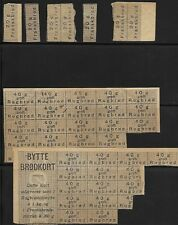 DENMARK RATION COUPONS FOR BREAD