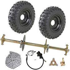 """New listing 1""""x 32"""" Go Kart ATV Rear Axle Kit Brake Assembly 6"""" Wheels Drift Trike Go Cart"""