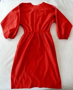 Red Vintage Yves Saint Laurent Rive Gauche Dolman Sleeve Dress size 38