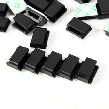 10 Pcs Car Travel Recorder GPS Data Wire Power Cord 3M Fixed Cable Mount Clips