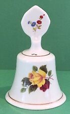 Staffordshire Bone China Bell, Floral Pattern, 4 7/8 inches (12.4 cm) high