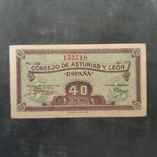 Billete de 40 céntimos Consejo Asturias y León
