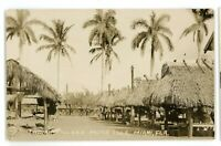 RPPC Seminole Indian Village MUSA ISLE near Miami FL Florida Real Photo Postcard