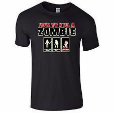 How To Kill A Zombie Funny Tee T-Shirt Top Tumblr Novelty Xmas Gift Secret Santa