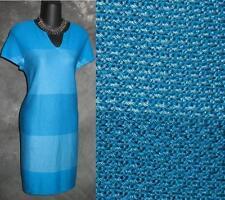 STUNNING NWT $995 beautiful summer St John blue knit dress size 4 NEW