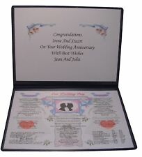 PERSONALISED WEDDING DAY ANNIVERSARY GIFT 50TH GOLDEN Married 1968