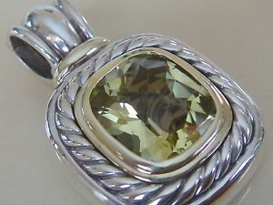 DAVID YURMAN 14K,SS EXTRA LARGE ALBION LEMON CITRINE ENHANCER