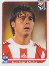 N°435 JULIO CESAR CACERES # PARAGUAY STICKER PANINI WORLD CUP SOUTH AFRICA 2010
