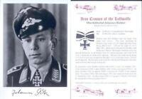 SPGL07 German Fighter Luftwaffe NJG Radar Op ace signed RICHTER KC
