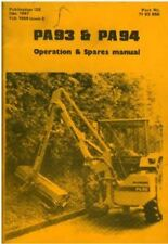 McCONNEL HEDGETRIMMER PA93 & PA94 OPERATORS MANUAL WITH PARTS LIST