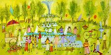 "Original Painting Signed Susan Pear Meisel "" Park"""