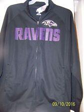 Baltimore Ravens NFL Majestic Full Zip Dri Fit Jacket Mens Size MEDIUM