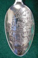 Sterling Souvenir Spoon Providence RI 1st Baptist Meeting House, ca. 1900