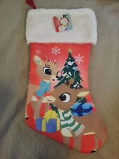 """Rudolph The Red Nosed Reindeer Christmas Stocking Clarice Large """"NWT"""""""