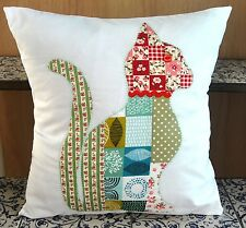 New Cat cushion KIT ideal gift cotton fabrics sew yourself patchwork applique