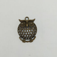 Owl Pendent For Necklace Bracelet Jewellery making Gift Present Wildlife Charm