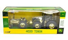 ERTL 1:32 JOHN DEERE *GOLD CHROME* 4020 & 7280R *THEN & NOW SET* NIB!
