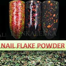 Chameleon Nail Flake Glitter Powder Broken Glass Foil Pigment Rose Gold Effect
