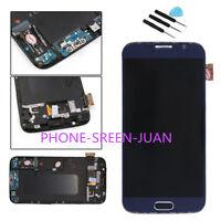 Display LCD Komplettset Touchscreen Rahmen für Samsung Galaxy S6 G920 G920F blau