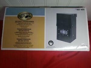 NEW! HAMPTON BAY - Landscape Lighting Transformer 200 Watt Transformer- Open Box