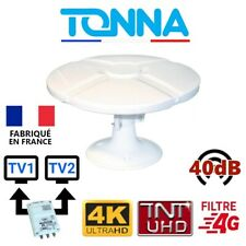 Omni TONNA - Antenne 40db TNTHD omnidirectionnelle pour Camping car Camion