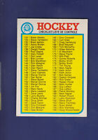 Checklist 133-264 (Unmarked) 1982-83 O-PEE-CHEE OPC Hockey #261 (NM)