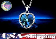 New Heart of the Ocean Blue Zircon Titanic Crystal Necklace