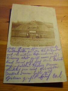 WW1 echt Foto AK Moussey Vosges Moselle ? Marketender Baracke um 1915