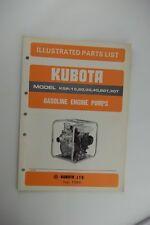 Factory OEM KUBOTA Gas Engine Pump KGP-15 20 30 40 Illustrated Parts List Manual