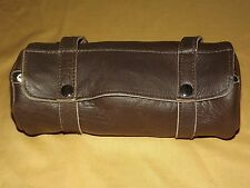 """10""""  XELEMENT MOTORCYCLE BROWN LEATHER TOOL BAG STYLE 1509 UNUSED  NEW"""