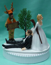 Wedding Cake Topper Deer Hunter Hunting Buck Themed Hunters Orange Camo Funny
