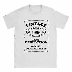 52nd Birthday T-Shirt Born In 1966 Mens Present Gift Age - Aged to Perfection